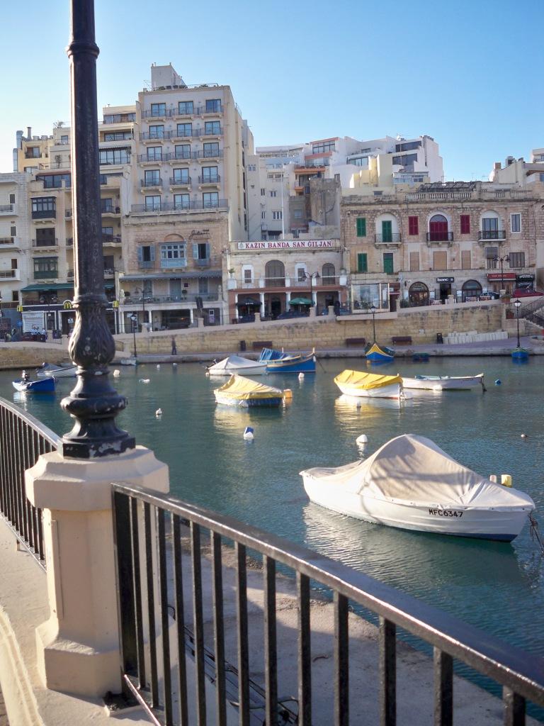 View over Spinola Bay to Hotel Juliani, Malta