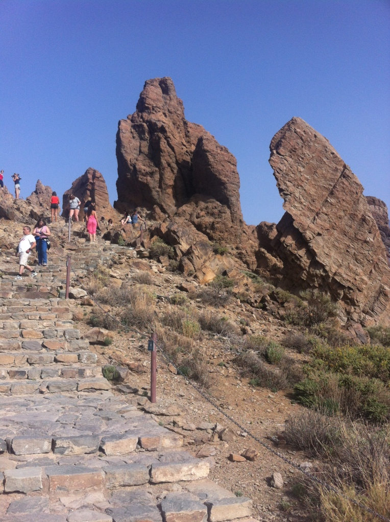 Rock formations in Mount Teide National Park