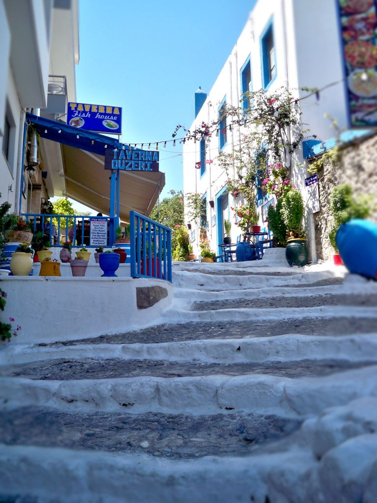 Picture of steps in Kos town, Greece