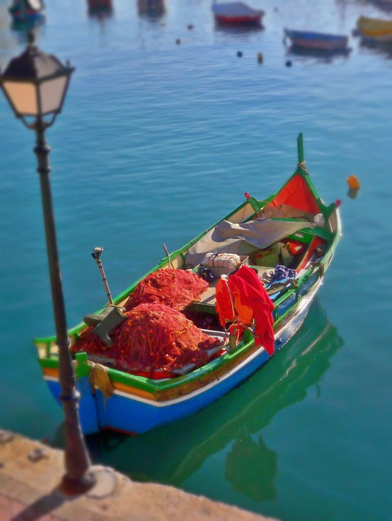 Traditional Maltese fishing boat, luzzo