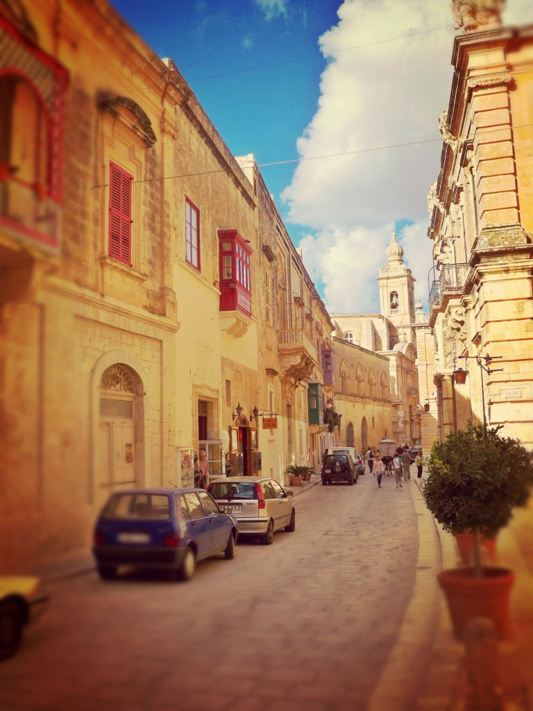 Traditional street in Mdina, Malta