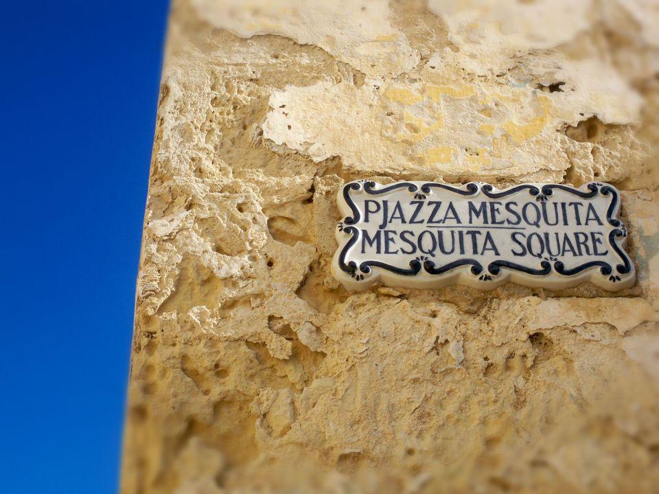 Maltese sign in Mdina, Malta