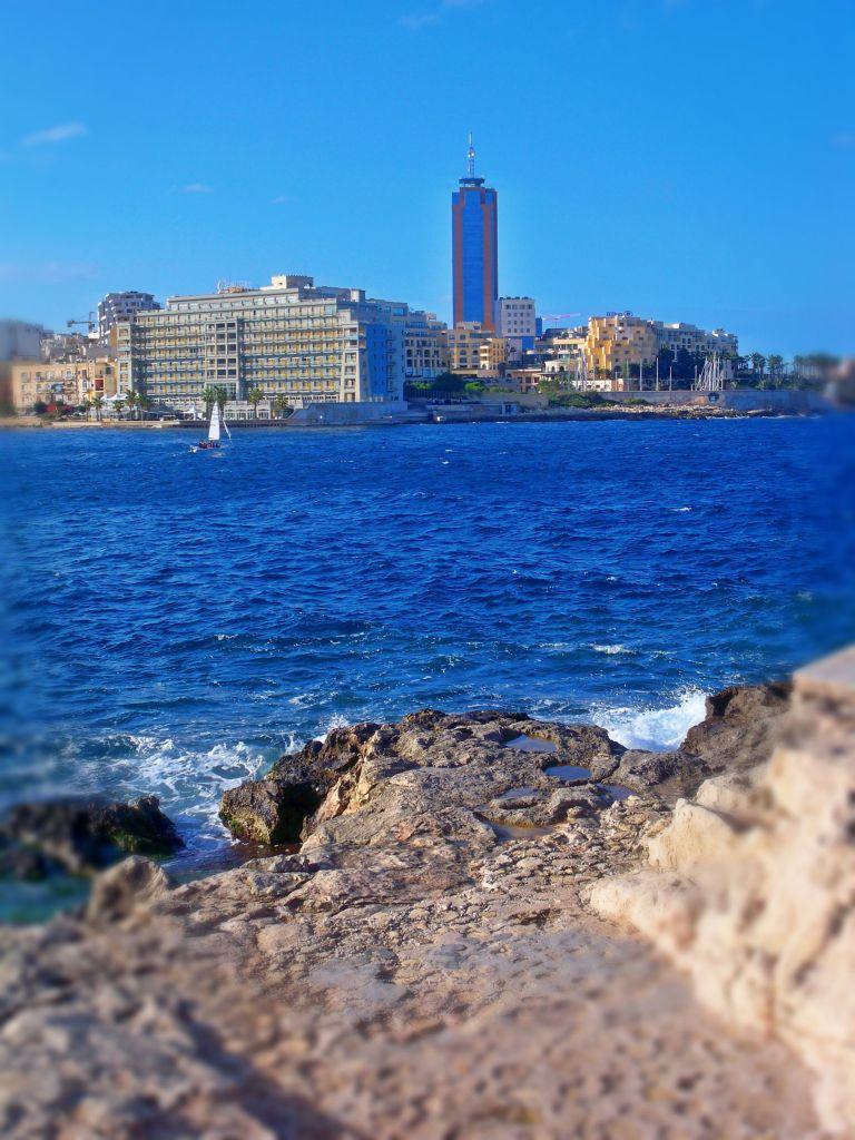 View towards Hilton, St Julians, Malta