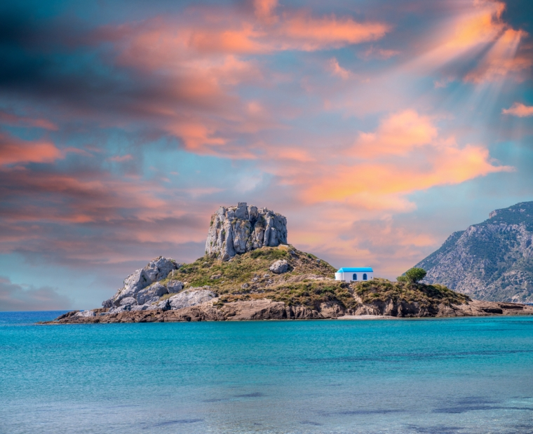 Picture of an island near Kefalos town, Kos, Greece