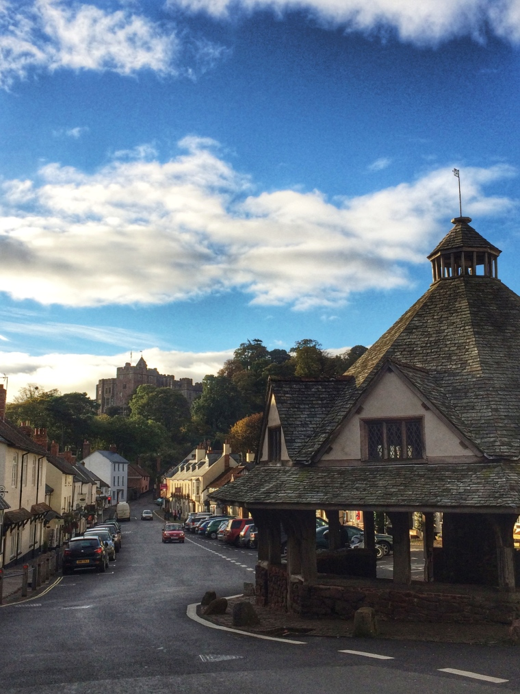 Autumn weekend in Dunster town in Somerset