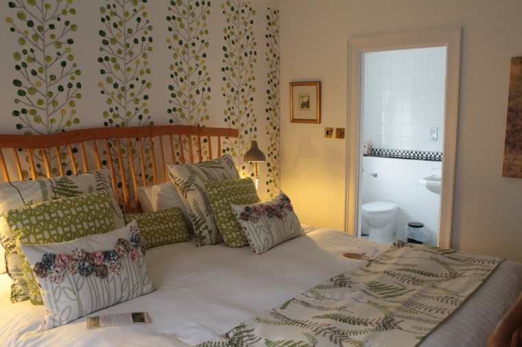 A superior double room at the Luttrell Arms Hotel, Dunster