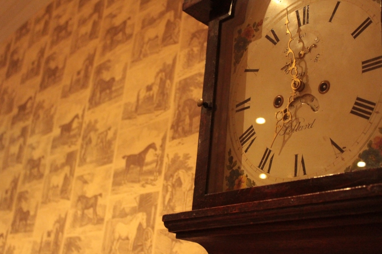 Time stands still in the Psalter's Restaurant in Luttrell Arms Dunster